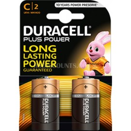 Duracell Power Plus LR14 MN1400 C Size Batteries Twin Pack