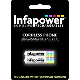 Infapower AAA 700mAh Longlife Rechargeable Cordless Phone Batteries Twin Pack