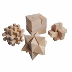 Set of 4 Wooden Mind Games (Stimulating, Challenging & Fun) -NY1046