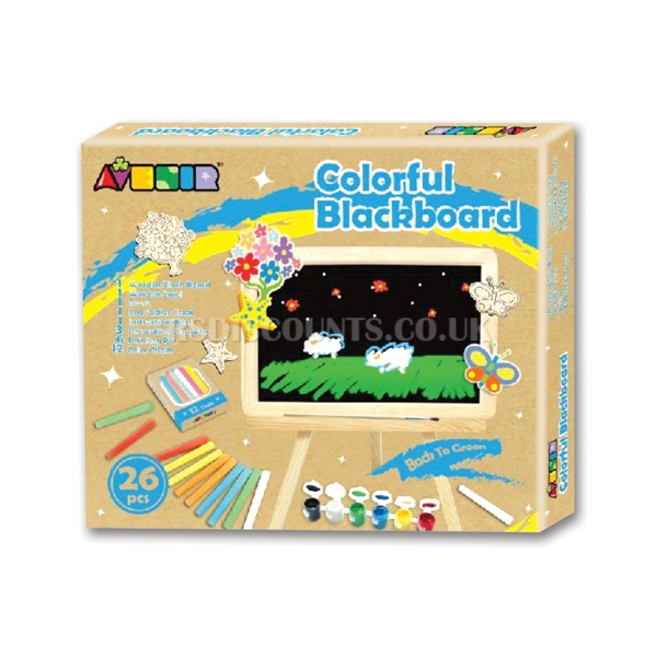 26 Piece Children's Colourful Easel & Blackboard Set - NY1158