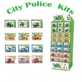 Build My World - City Police Vehicle Building Kits Choice of 3 Vehicles