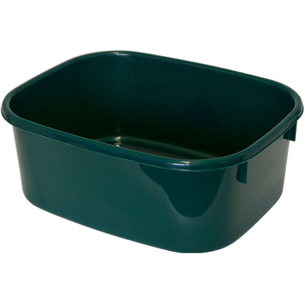 LUCY LARGE Dark Green Rectangular Washing Up Bowl