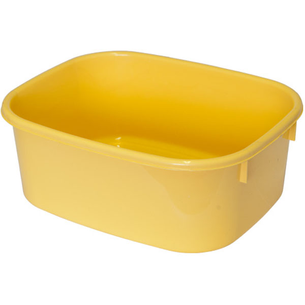LUCY LARGE Yellow Rectangular Washing Up Bowl