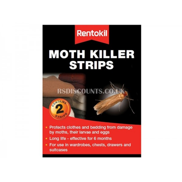 FA106 Rentokil Moth Killer Strips Twin Pack