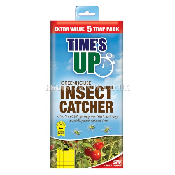 STV017 STV Greenhouse Insect Catcher 5 Pack TIME'S UP