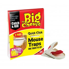STV140 STV Quick Click Mouse Trap - TWINPACK The Big Cheese