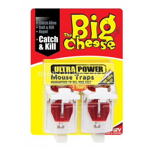 STV148 STV Ultra Power Mouse Traps - Twinpack The Big Cheese,
