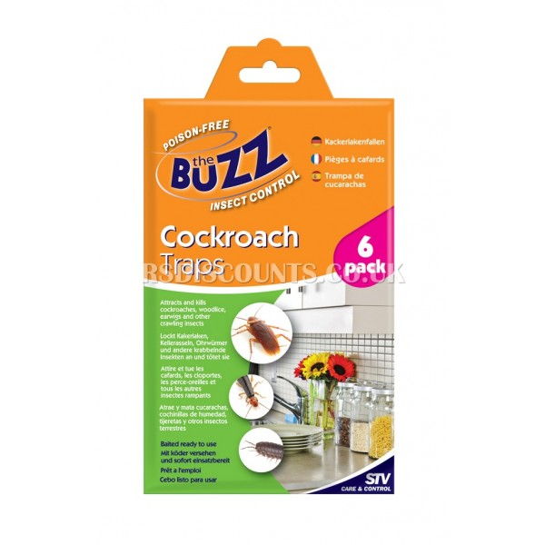 STV184 Cockroach Traps - 6 PACK THE BUZZ