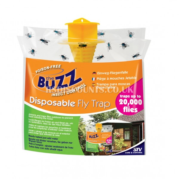 STV332 STV Baited RTU Outdoor Fly Trap, Buzz