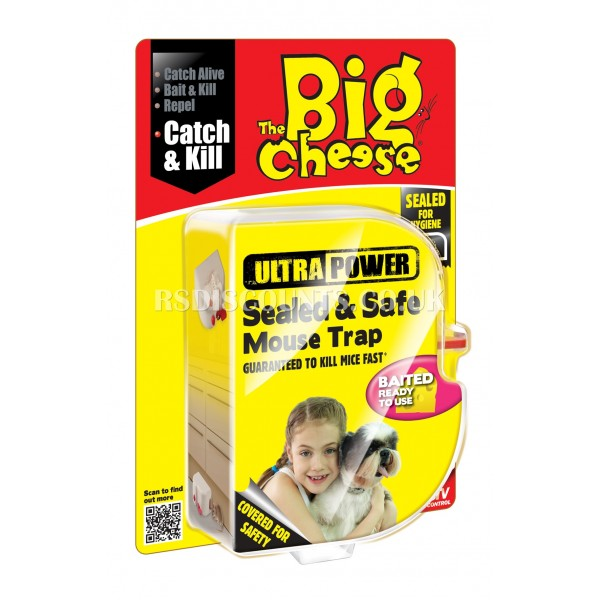 STV135 Ultra Power Sealed & Safe Mouse Trap The Big Cheese