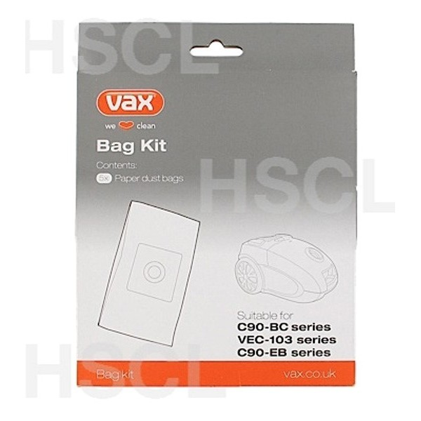 29000019 - Vacuum Cleaner Bag - Dust Bag Kit: Vax: VEC 103 Series