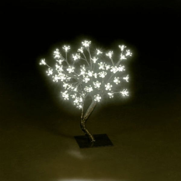 Snow Time 45cm Ice White LED Outdoor Chery Blossom Tree
