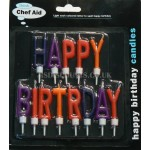 Bright & Colourful Happy Birthday Candle Set