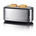 Severin AT2509 4 Slice  Automatic Long Slot  Toaster Stainless Steel-Black