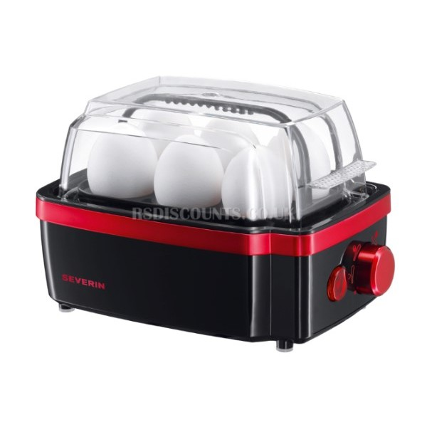 Severin EK3156 6 x Egg Boiler Black-Red