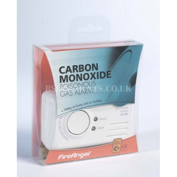 FireAngel Carbon Monoxide Poisonous Gas Detector CO9B
