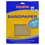 SupaDec General Purpose Sandpaper Pack 12 Assorted