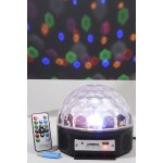 Kaemingk LED Magic Disco Ball With MP3 & 6 Different Coloured Lights Plus Remote Control