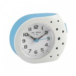 White and Blue Dotty Alarm Clock