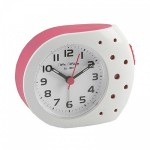 White and Pink Dotty Alarm Clock