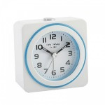 White and Blue Alarm Clock.