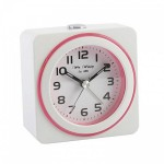 White and Pink Alarm Clock.