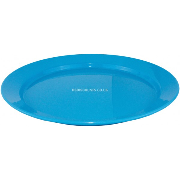 CW046 - Yellowstone 24cm Plastic Flat Plate (Blue) Pack of 4