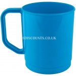 CW048 - Yellowstone 350ml Plastic Mug (Blue)