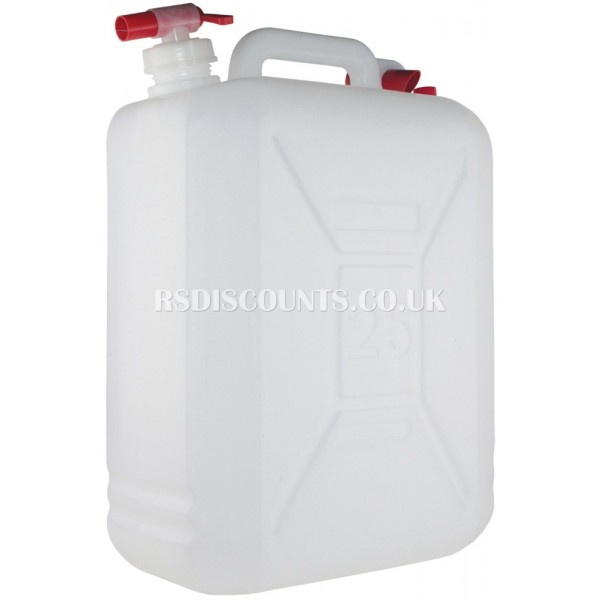 CW057 - Yellowstone 25 Litre Water Carrier With Pouring Spout & Tap