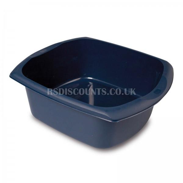 Addis Ink Blue 9.5Ltr Large Rectangular Washing Up Bowl