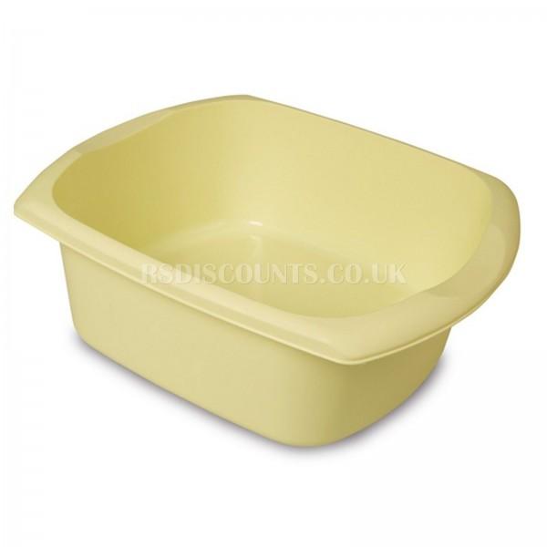 Addis Lemon Sorbet 9.5Ltr Large Rectangular Washing Up Bowl