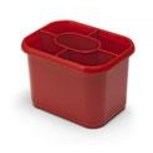 ADDIS Roasted Red Cutlery Drainer