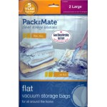 PackMate Flat Vacuum Storage Bags 2 x Large Storage Bags 55cm x 80cm