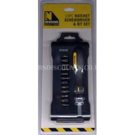 Newsome 13 Piece Ratchet Screwdriver and Bit Set