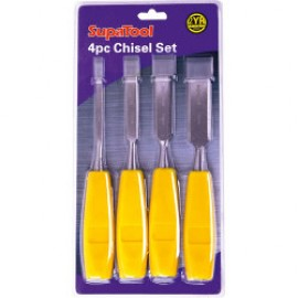 SupaTool Four Piece Plastic Handle Chisel Set