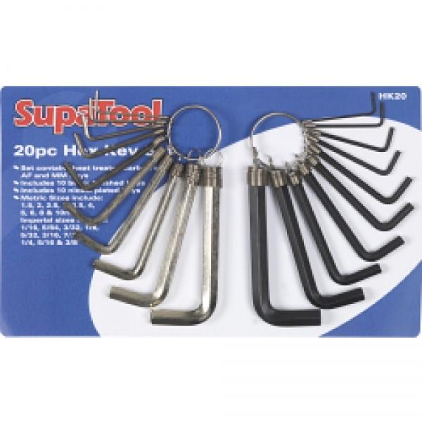 SupaTool 20pc Combination Hex Key Set