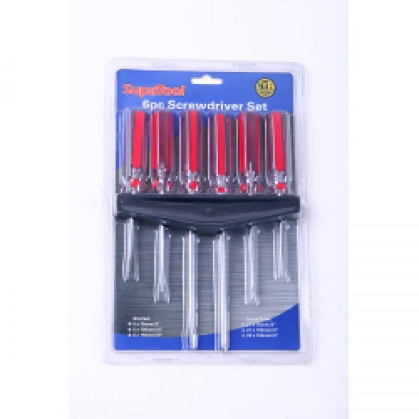 SupaTool 6 Piece Screwdriver Set & Rack